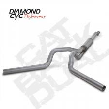 "SHOP BY BRAND - Diamond Eye - Diamond Eye  - 03-07 6.0L 4"" Aluminized Cat Back Dual Exhaust W/ muffler - DE-K4340A"