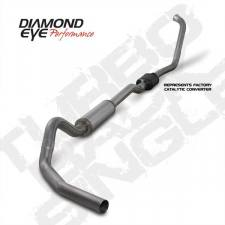 "Diamond Eye  - DIAMOND EYE 03-07 6.0L 4"" Stainless turbo back single exhaust W/ muffler - DE-K4334S"