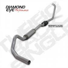 "Diamond Eye  - DIAMOND EYE 03-07 6.0L 4"" Aluminized turbo back single exhaust W/ muffler - DE-K4334A"