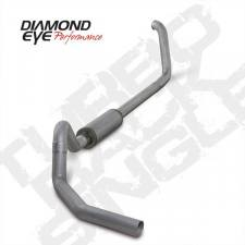 "Diamond Eye  - DIAMOND EYE 99-03 7.3L 4"" Aluminized turbo back single W/ muffler - DE-K4326A"