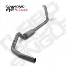 "Diamond Eye  - DIAMOND EYE 99-03 7.3L 4"" Stainless turbo back single exhaust W/ muffler - DE-K4318S"