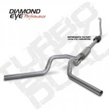 "SHOP BY BRAND - Diamond Eye - Diamond Eye  - DIAMOND EYE 94-97 7.3L 4"" Aluminized turbo back dual exhaust W/ muffler - DE-K4308A"