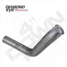 "Engine Parts - Down Pipes - Diamond Eye  - DIAMOND EYE 99-03 7.3L 4"" Aluminized down pipe - DE-120005"