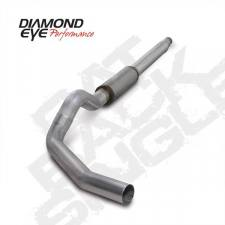 "POWERSTROKE 94-97 - EXHAUST 94-97 - Diamond Eye  - DIAMOND EYE 94-97 7.3L 5"" Aluminized cat back single W/ muffler - DE-K5316A"