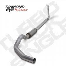 "Diamond Eye  - DIAMOND EYE 94-97 7.3L 5"" Aluminized turbo back single W/ muffler - DE-K5315A"