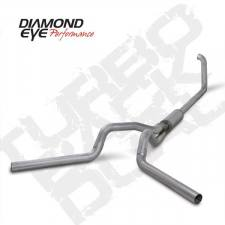 "Diamond Eye  - DIAMOND EYE 99-03 7.3L 4"" Aluminized turbo back dual exhaust W/ muffler - DE-K4320A"