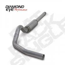 "POWERSTROKE 94-97 - EXHAUST 94-97 - Diamond Eye  - DIAMOND EYE 94-97 7.3L 4"" Aluminized cat back single W/ muffler - DE-K4310A"