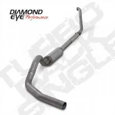 "POWERSTROKE 94-97 - EXHAUST 94-97 - Diamond Eye  - DIAMOND EYE 94-97 7.3L 4"" Stainless turbo back single W/ muffler - DE-K4307S"