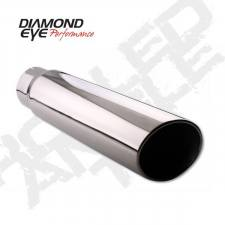 "Exhaust - Exhaust Tips - Diamond Eye  - DIAMOND EYE 3.5"" - 4"" Polished 304 Stainless steel tip rolled angel cut 12"" long - DE-354012RAC"