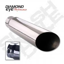 "POWERSTROKE 94-97 - EXHAUST 94-97 - Diamond Eye  - DIAMOND EYE 5""- 6"" Polished 304 stainless steel bolt-on angle cut 18"" long - DE-5618BAC"