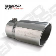 "Exhaust - Exhaust Tips - Diamond Eye  - DIAMOND EYE Stainless bolt on rolled angle logo embossed 5"" X 6"" X 12"" long - DE-5612BRADE"