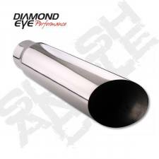 Exhaust - Exhaust Tips - Diamond Eye  - DIAMOND EYE Stainless angle cut clamp on 5 X 5 X 12 long - DE-5512AC