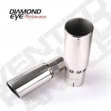 Exhaust - Exhaust Tips - Diamond Eye  - DIAMOND EYE Stainless steel vented rolled-angle polished 4 x 5 x 16 long - DE-4516VRA