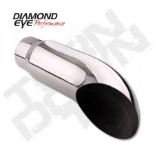 Exhaust - Exhaust Tips - Diamond Eye  - DIAMOND EYE Stainless weld/clamp on turn down 4 x 5 x 18 long - DE-4418TD