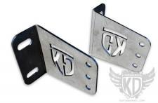 "Lighting - Lighting Accessories - KD Fabworks - KD FABWORKS 11-16 F250/F350 BUMPER BRACKETS FOR STRAIGHT 40"" LED LIGHT BARS - KDF-TR-0010"