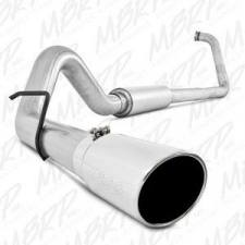 "MBRP Exhaust - MBRP 03-07 6.0L 4"" Aluminized turbo back single side W/ tip and muffler - MBRP-S6212AL"