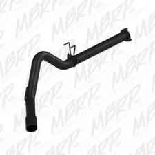 "Exhaust - Exhaust Systems - MBRP Exhaust - MBRP 11-14 FORD F-250/350/450 6.7L 4"" F/B SINGLE SIDE BLACK - S6248BLK"