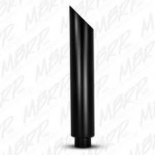 """MBRP Exhaust - MBRP Universal 6"""" 1pc stack angle cut 36"""" tall black finish - MBRP-B1610BLK - Image 2"""