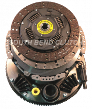 Transmission - Manual Transmission Parts - South Bend Clutch - SOUTH BEND CLUTCH W/ SOLID MASS FLYWHEEL 5SP 7.3L 94.5-98 375HP 1944-5OK