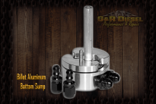 Fuel System & Components - Fuel System Parts - G&R Diesel Performance - G&R Diesel Performance Billet Aluminum Bottom Sump with Integrated Fuel Return System - G&RD-FUEL-SUMP-S/R