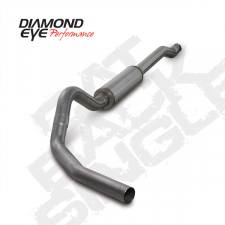 "Diamond Eye  - DIAMOND EYE 03-07 6.0L 4"" Stainless cat back single exhaust system W/ muffler - DE-K4338S"
