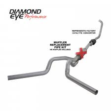 "SHOP BY BRAND - Diamond Eye - Diamond Eye  - 03-07 6.0L 4"" Aluminized Turbo Back Dual Exhaust NO Muffler - DE-K4336A-RP"