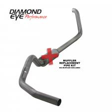 "Diamond Eye  - DIAMOND EYE 99-03 7.3L 4"" Stainless turbo back single exhaust NO muffler - DE-K4318S-RP"