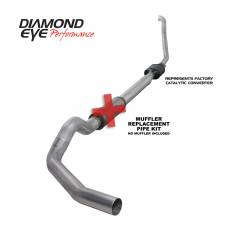 "POWERSTROKE 94-97 - EXHAUST 94-97 - Diamond Eye  - DIAMOND EYE 94-97 5"" Aluminized turbo back single NO muffler - DE-K5314A-RP"