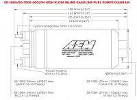 Aem Electronics - AEM 400LPH Fuel pump (Metric) - AEM-50-1009 - Image 4