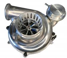 Turbo Chargers & Components - Turbo Chargers - KC Turbos - KC Turbos KC38R Early 99 7.3L 66/73 Dual Ball Bearing Tiger Turbo- KCT-300bb6673
