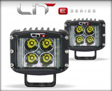 Lighting - Offroad Lights - Edge Products - EDGE PRODUCTS LIT E-SERIES WIDE SHOT POD PAIR 5 WATT FLOOD W/POWER SWITCH 72091