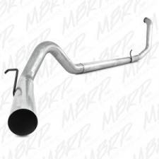 "Exhaust - Exhaust Systems - MBRP Exhaust - MBRP 99-03 7.3L 4"" F-250/350 Stainless Turbo Back Single W/O Muffler - S6200SLM"