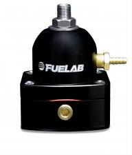 Fuel System & Components - Fuel System Parts - FUELAB - Fuelab Fuel Pressure Regulator -06 Inlet/Outlet Black - 51502-1