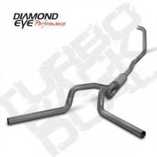 "Diamond Eye  - 03-07 6.0L 4"" Stainless Turbo Back Dual Exhaust W/ Muffler - DE-K4348S"
